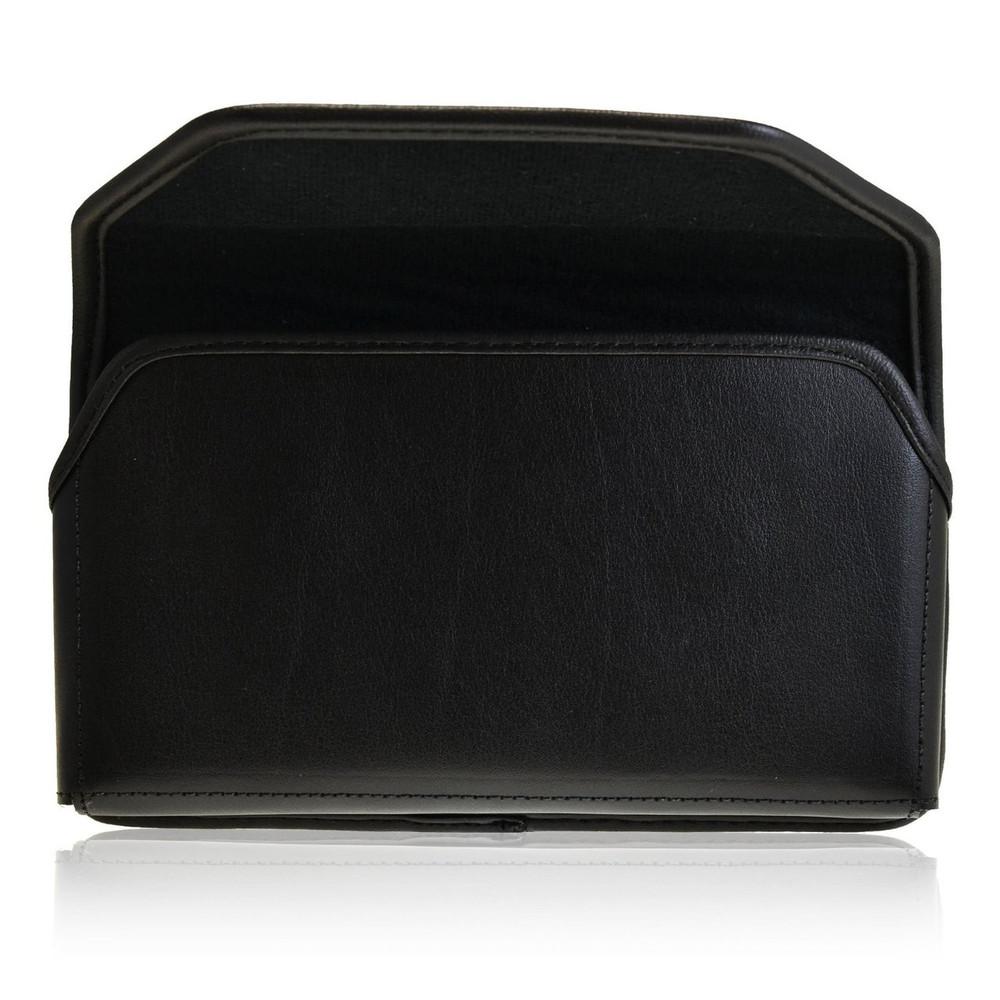 Google Nexus 6 Horizontal Leather Holster, Metal Belt Clip