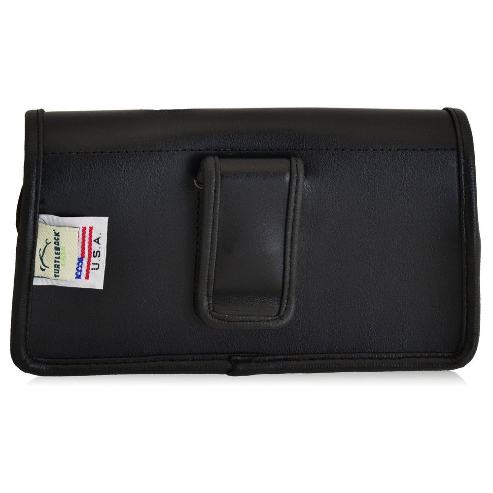 HTC Desire 826 Horizontal Leather Holster, Black Belt Clip