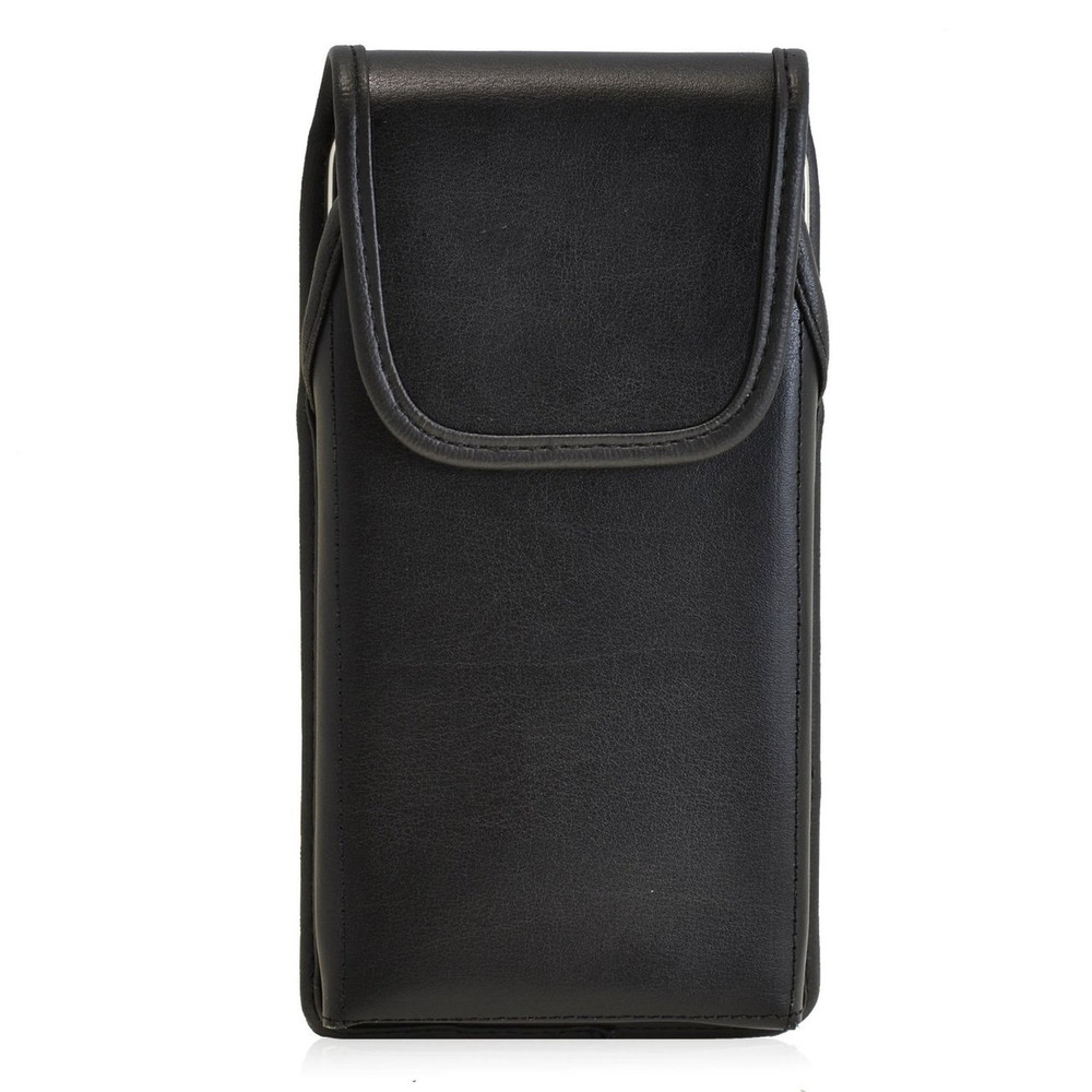 HTC Desire 826 Vertical Leather Holster, Black Belt Clip
