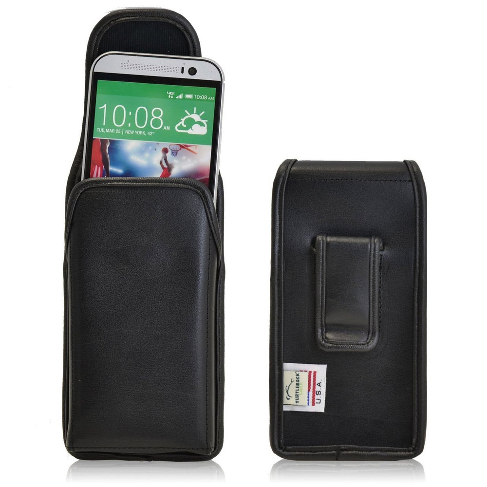 official photos 0b7e2 37c98 HTC One M8 Vertical Leather Holster, Black Belt Clip