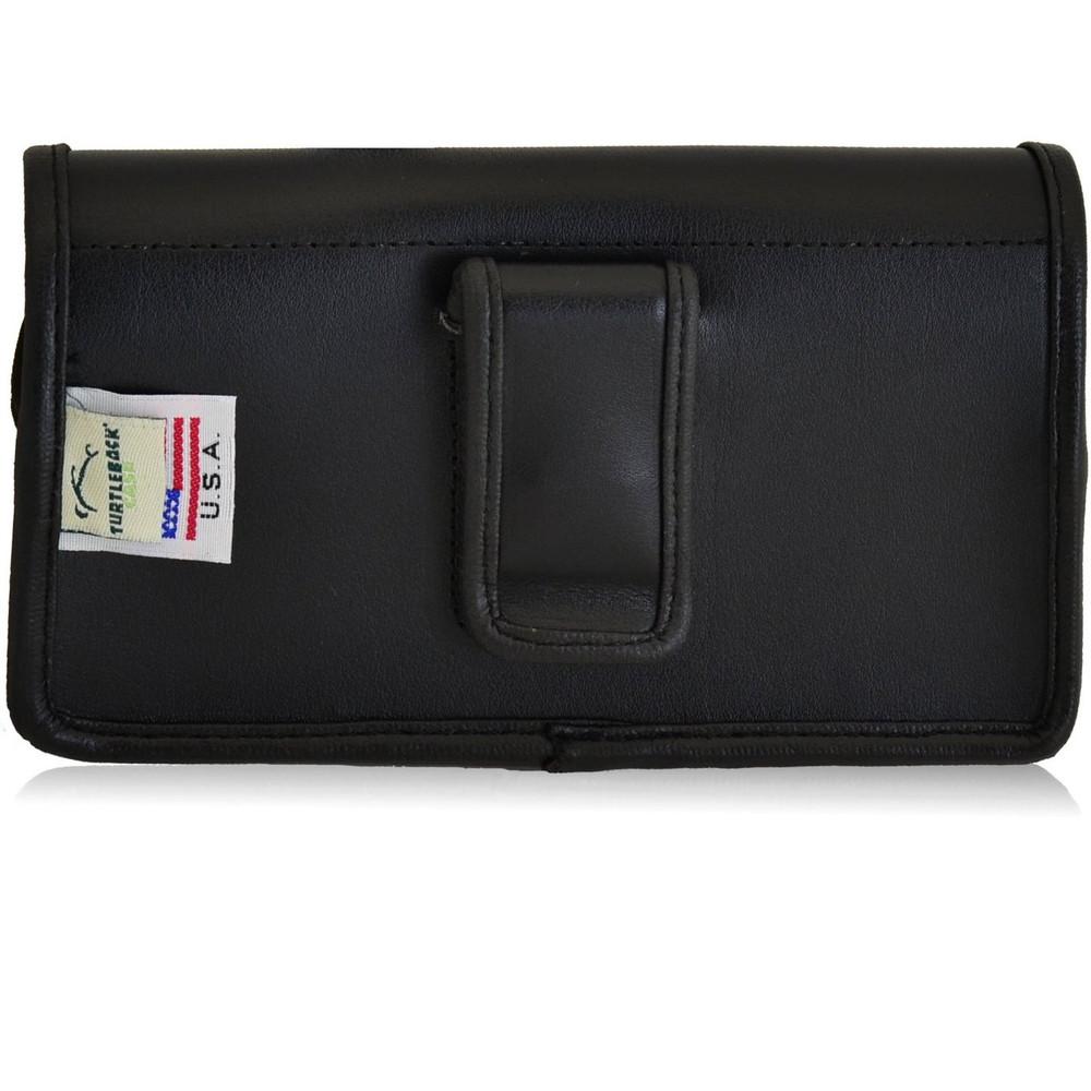 Kyocera Torque XT E6710 Horizontal Leather Holster, Black Belt Clip