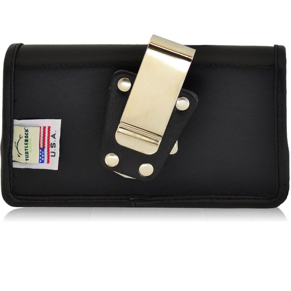 Kyocera Torque XT E6710 Horizontal Leather Holster, Metal Belt Clip