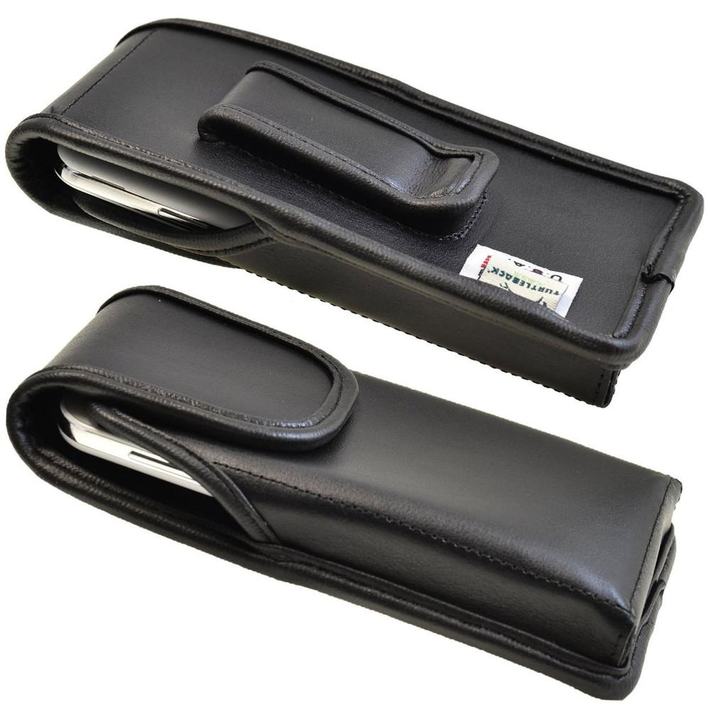 Kyocera Torque XTE6710 Vertical Leather Holster, Black Belt Clip
