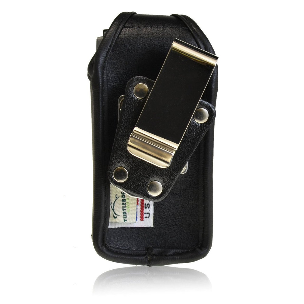 Medium Holster Heavy Duty Black Leather Case - Fits LG A340