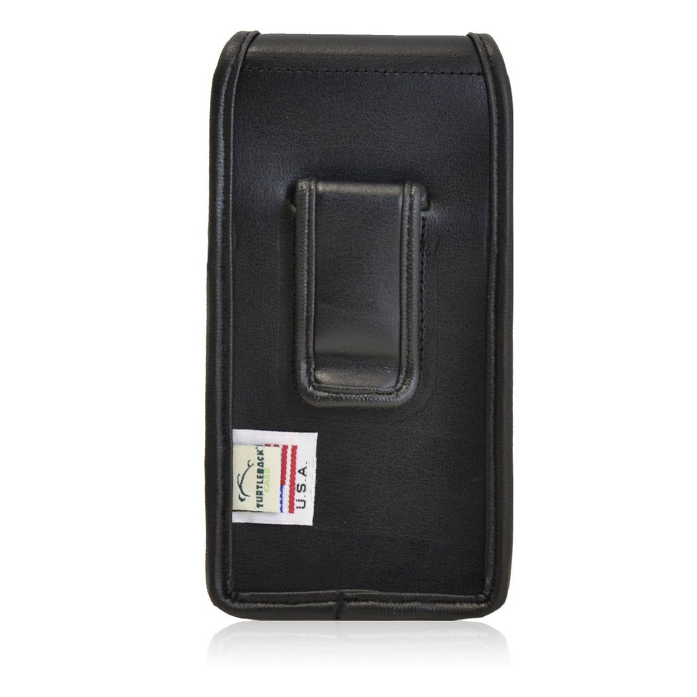 Motorola Droid Turbo Vertical Leather Holster, Black Belt Clip