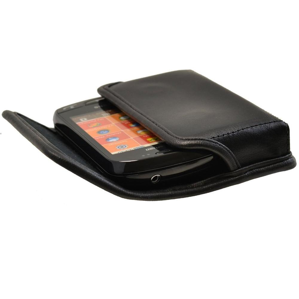 Samsung Brightside Qwerty Horizontal Leather Holster, Black Belt Clip