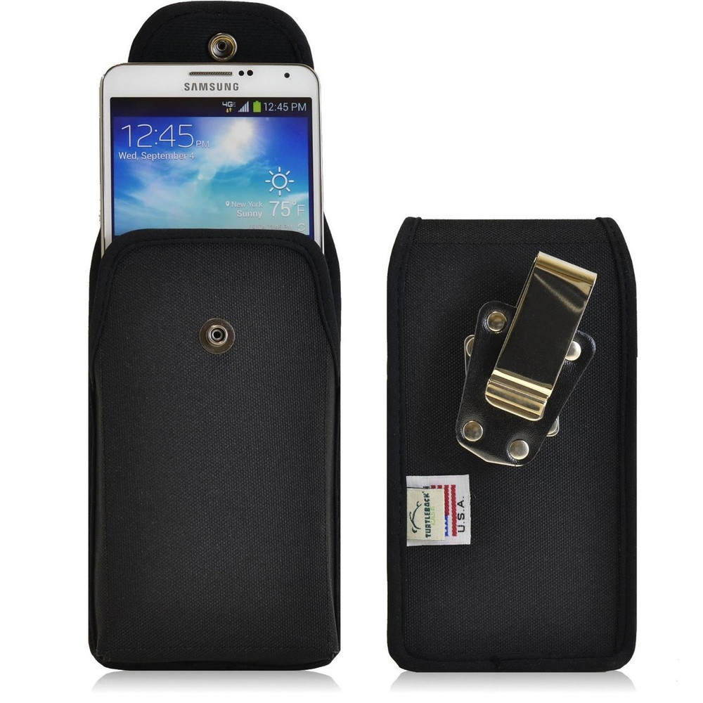 Samsung Galaxy Note 3 III Vertical Nylon Holster, Snap Closure, Metal Belt Clip