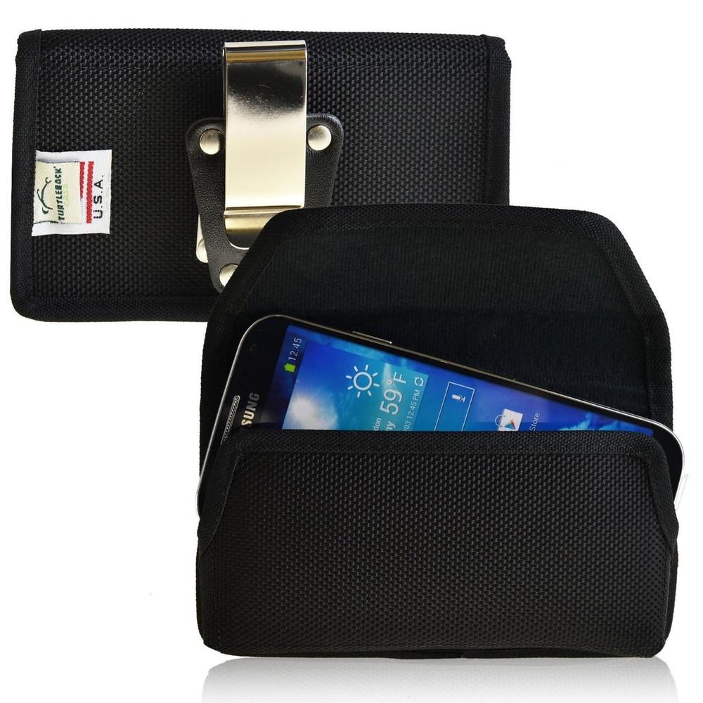 Samsung Galaxy S4 IV Horizontal Leather Holster, Metal Belt Clip