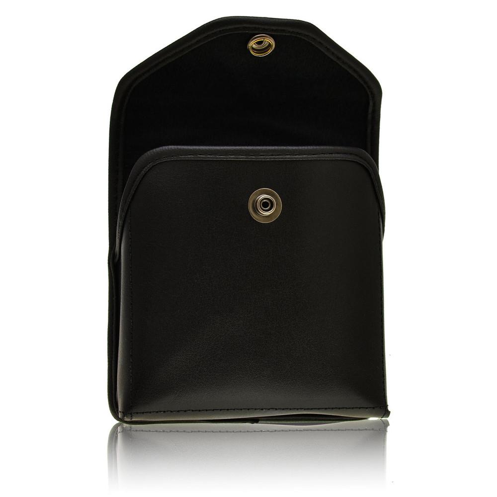 Verizon Wireless Jetpack 4G LTE 890L Horizontal Leather Holster, Metal Belt Clip, Snap Closure