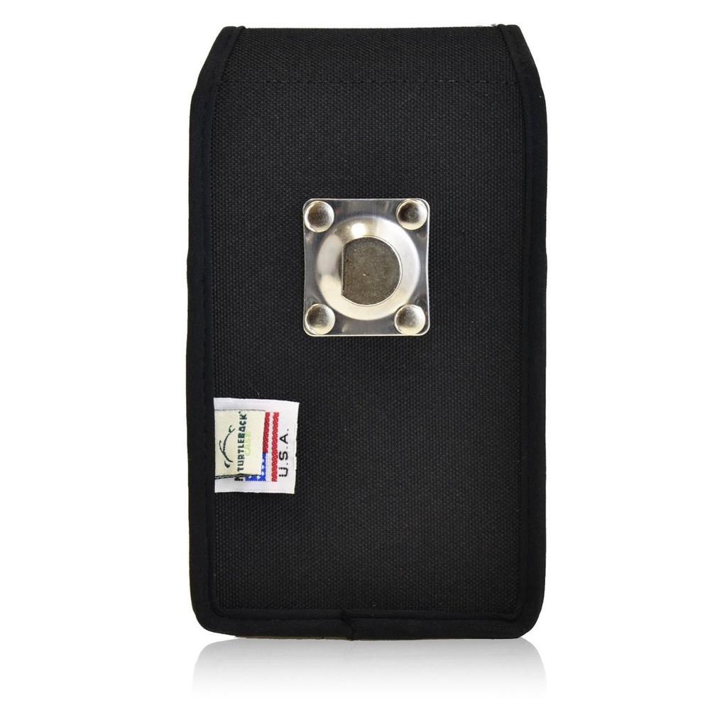 Vertical Nylon Extended Holster for Motorola Droid Turbo with Bulky Cases, Metal Belt Clip