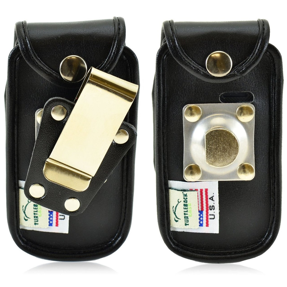 Alcatel Tracfone  A392G Leather Fitted Phone Case, Metal Belt Clip
