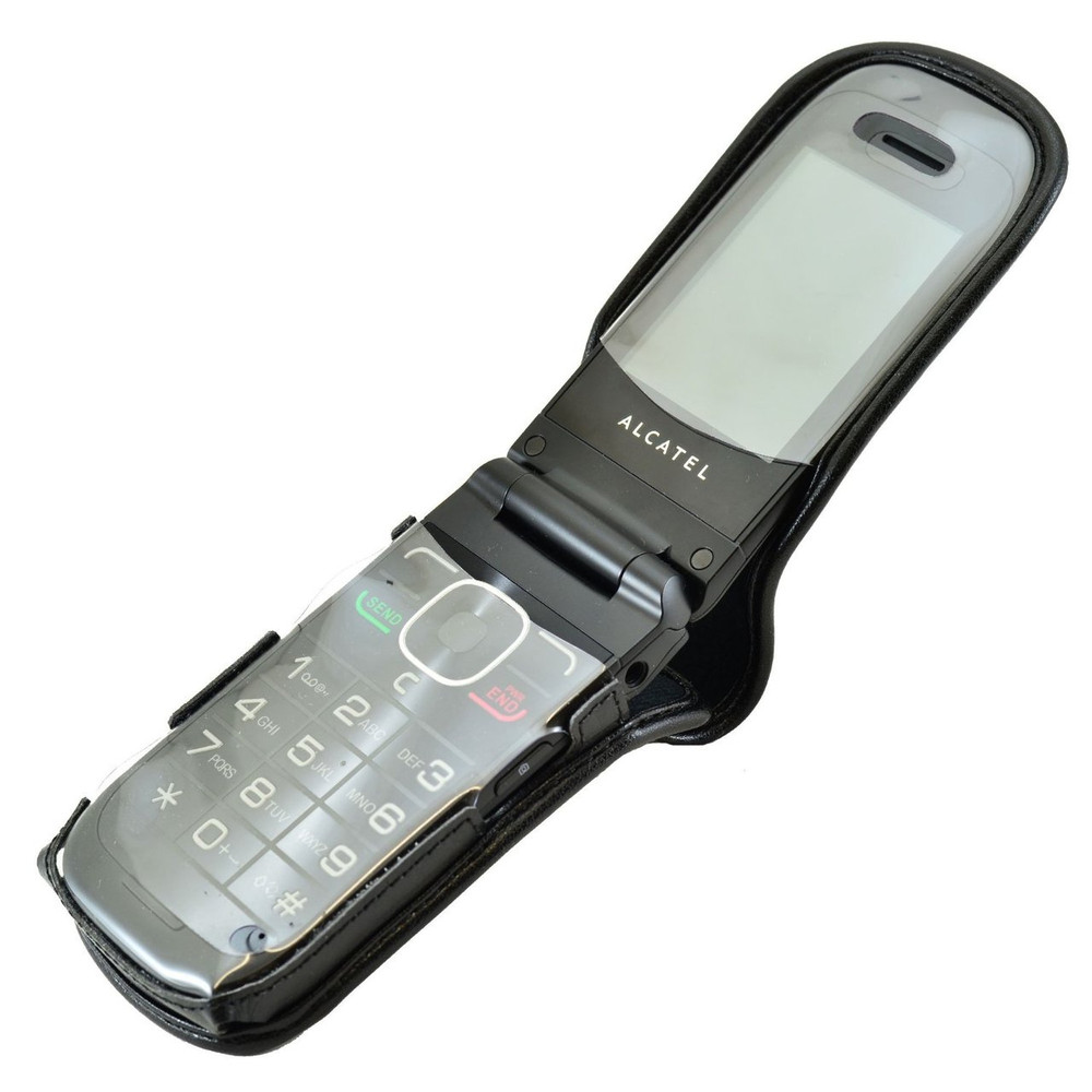 pretty nice bfe36 a57bd Alcatel Tracfone A392G Leather Fitted Phone Case, Ratcheting Belt Clip