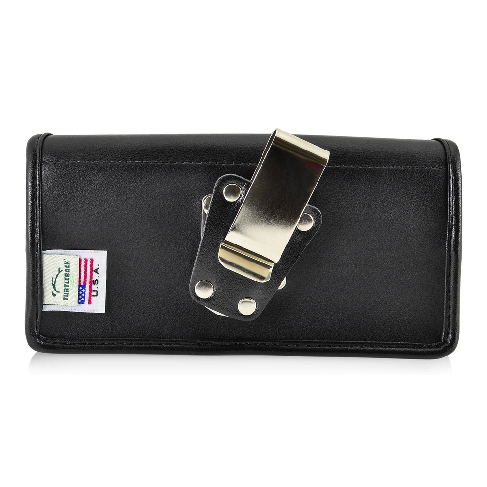 5.86 X 3.10 X 0.45in - Leather Horizontal Holster, Metal Belt Clip