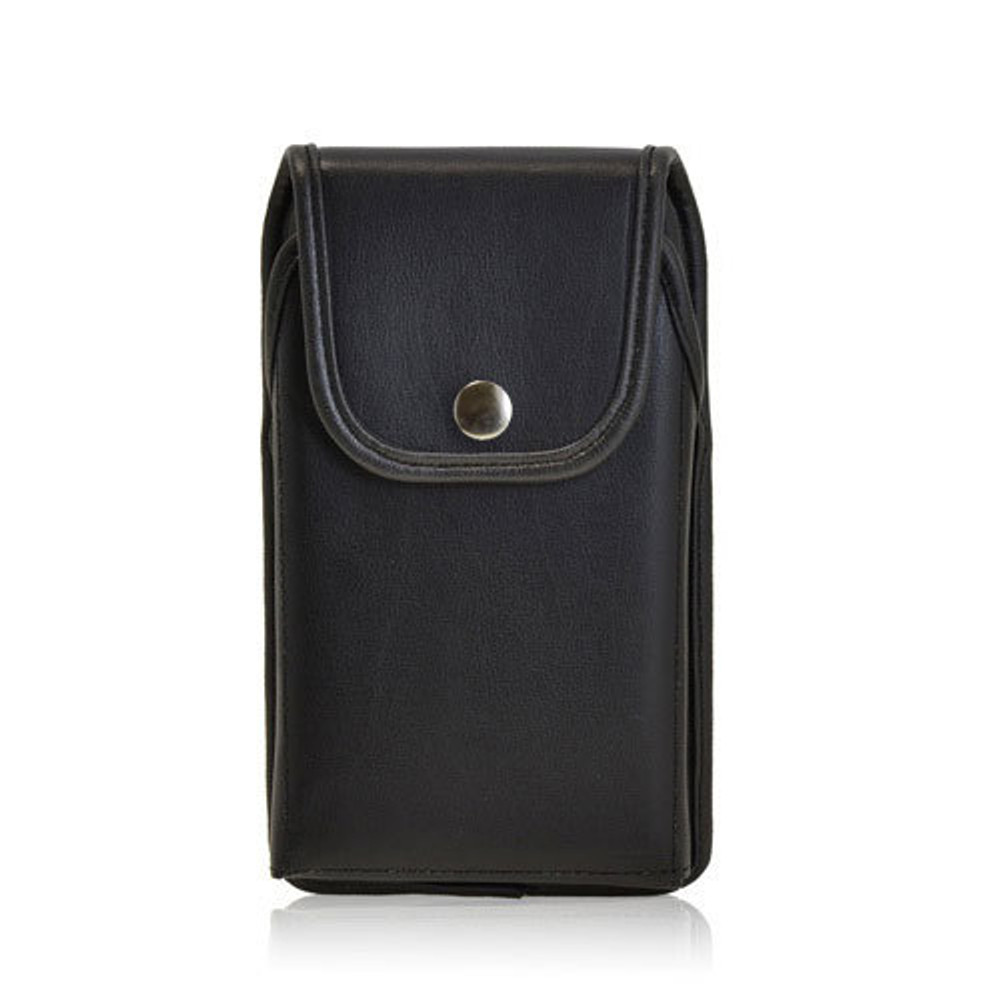 5.50 X 3.00 X 0.50in - Leather Holster Metal Belt Clip with Snap Closure