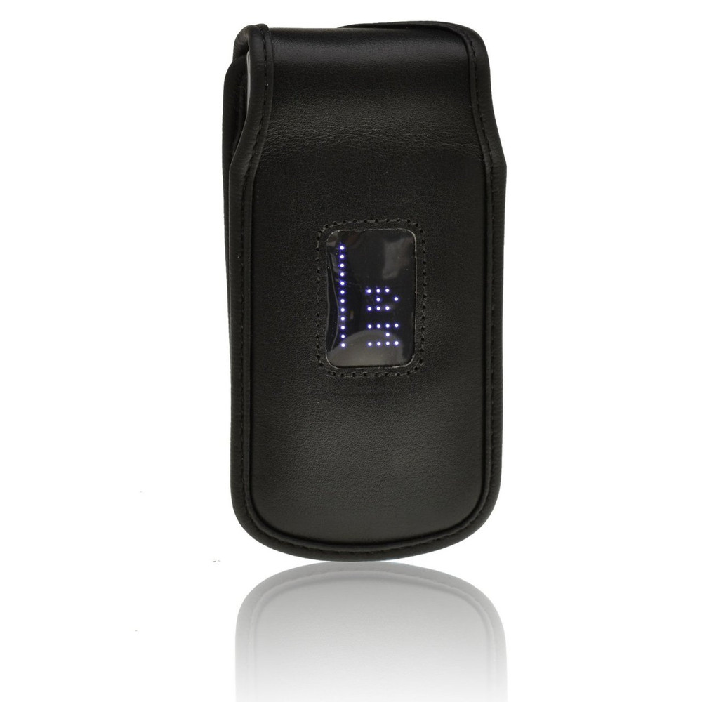 LG Wine 3 UN530 Executive Fitted Black Leather Case Phone Case with Ratcheting Belt Clip