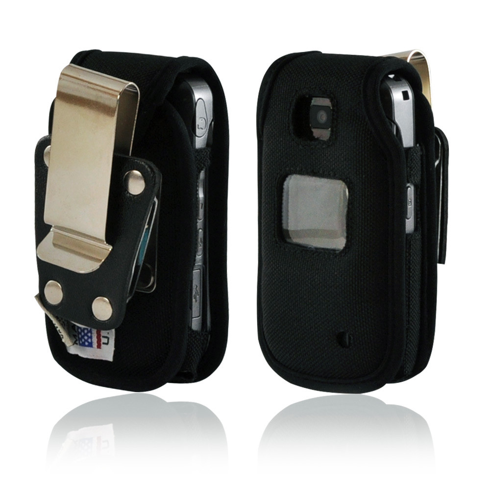 LG VX5600 Accolade Fitted Nylon Phone Case with Rotating Metal Belt Clip