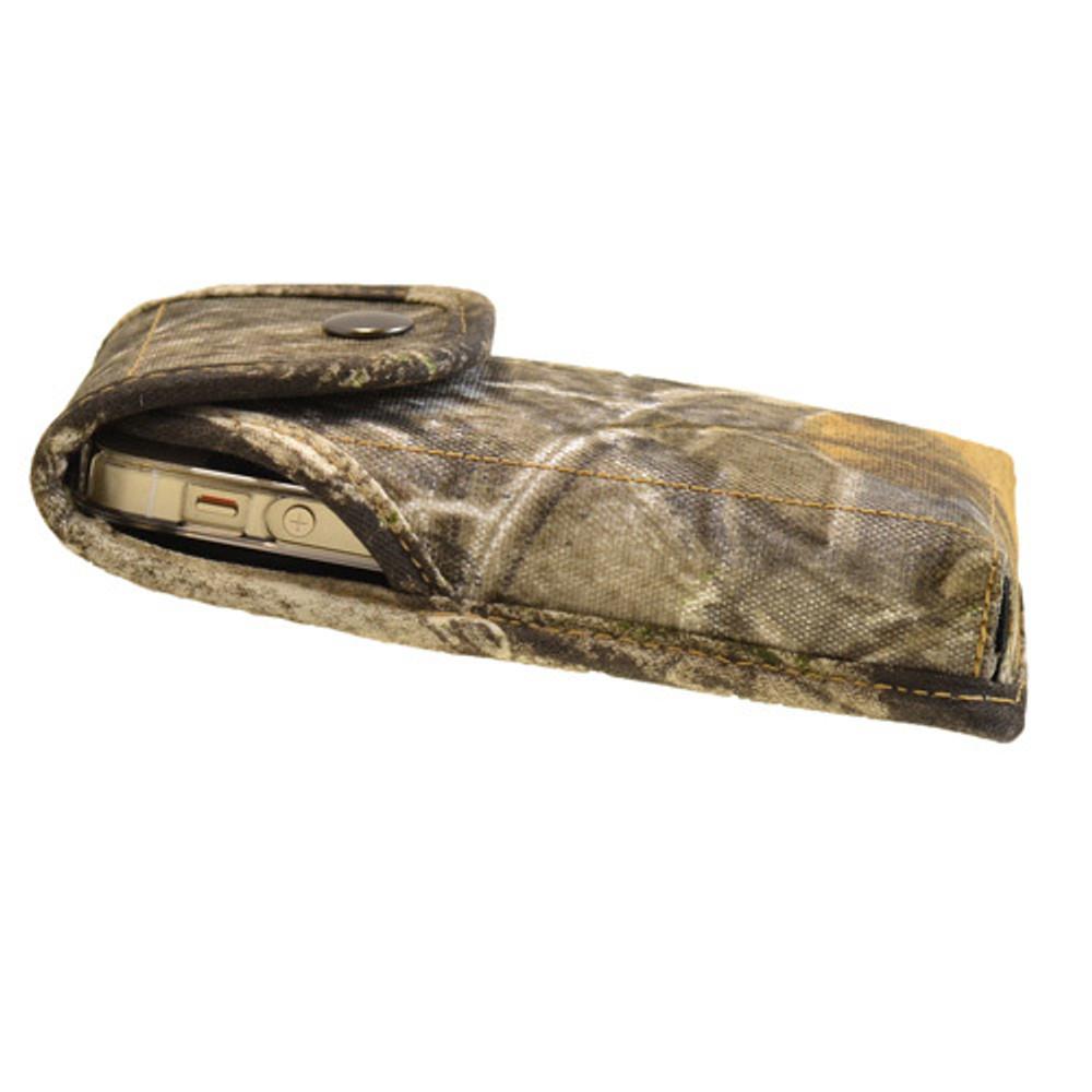 Vertical Camouflage SM Nylon Holster, Metal Belt Clip