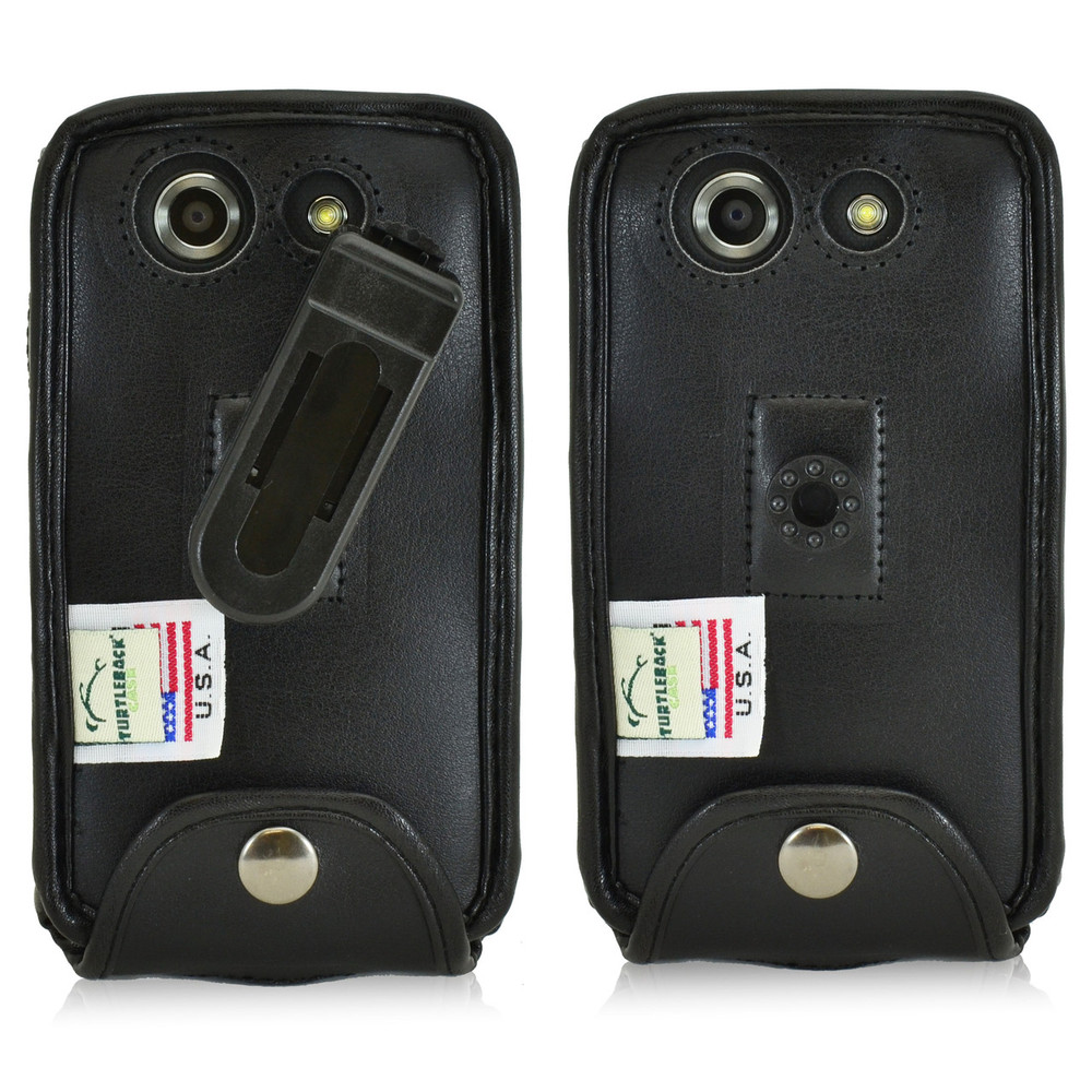 Kyocera DuraForce E6560 Executive Black Leather Case Phone Case with Ratcheting Belt Clip