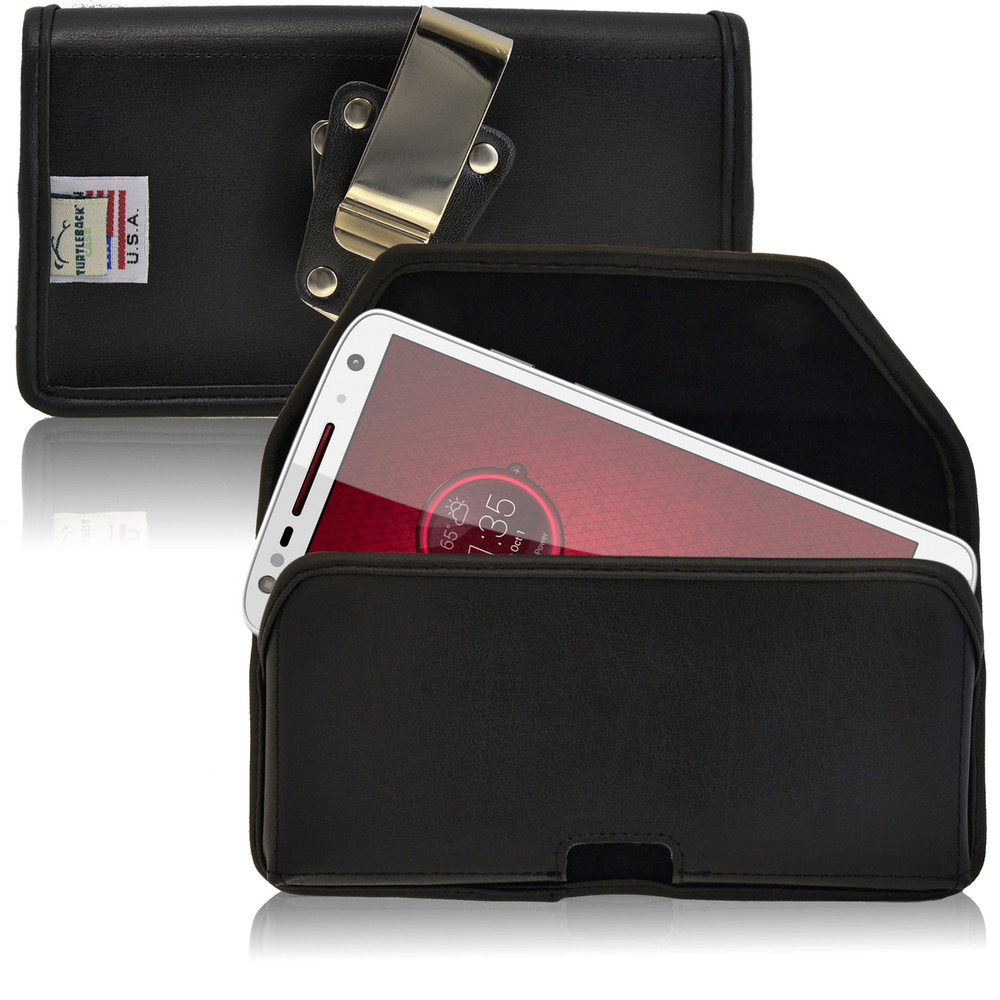 Droid Turbo 2 Leather Holster Metal Belt Clip