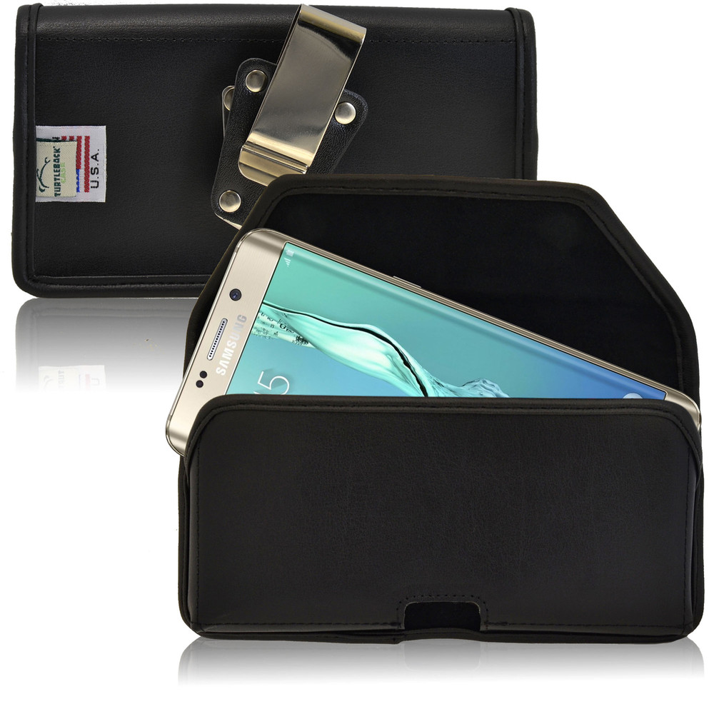Galaxy S6 Edge Plus Leather Holster Metal Belt Clip