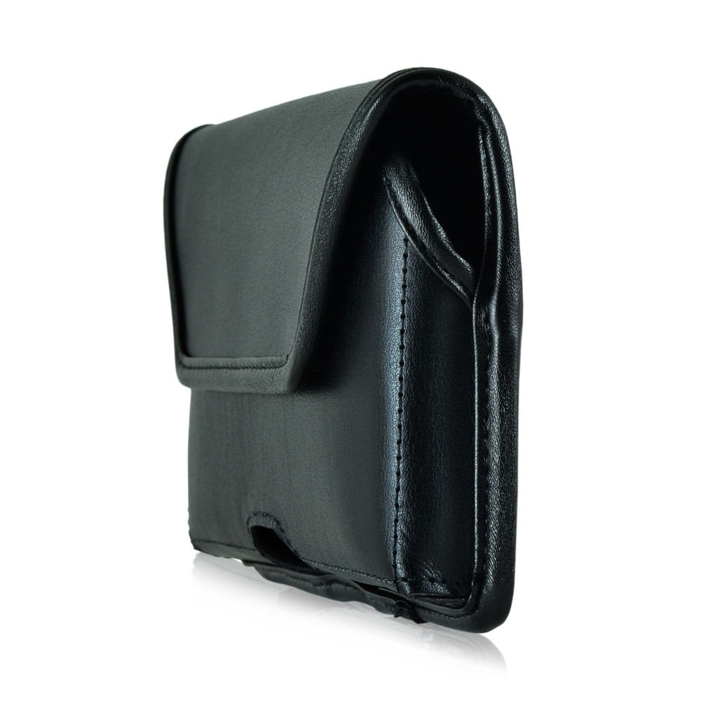 HTC One A9 Leather Holster Metal Clip