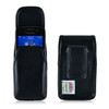 Blackberry 8520 9360 9700 Leather Holster, Black Belt Cip