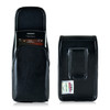 Blackberry Q10 9900 9600 Leather Holster, Black Belt Clip