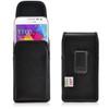 Galaxy Core Prime Vertical Leather Holster, Case Black Belt Clip