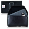 Galaxy S7 Extended Horizontal Leather Fixed Clip Holster