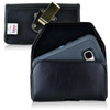 Galaxy S7 Extended Horizontal Leather Rotating Clip Holster
