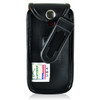 Greatcall Jitterbug Flip Phone Black LEATHER Belt Fitted Case Removable Belt Clip