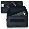 iPhone 6S+ Plus Samsung S7 Edge Police Pouch Belt Case Horizontal hook and loop Closure Black Nylon Belt Clip Pouch with Heavy Duty Rotating Belt Clip, fits Otterbox Defender and Bulky Cases