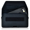 iPhone 6S+ Plus Samsung S7 Edge Police Pouch Belt Case Horizontal Velcro Closure Black Nylon Belt Clip Pouch with Heavy Duty Rotating Belt Clip, fits Otterbox Defender and Bulky Cases