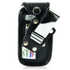 Doro PhoneEasy 626 Flip Phone Fitted Case Black Leather Metal Clip Turtleback