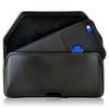 Google Pixel XL Holster, Google Pixel XL Belt Case, Black Leather Pouch with Executive Belt Clip, Horizontal