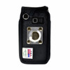 TracFone ZTE Cymbal T Flip Phone Fitted Case Black Nylon Metal Clip