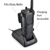 Motorola APX 7000 Duty Belt Carry Holder Case Black Leather Holster with Heavy Duty Rotating Belt Clip