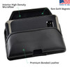 Galaxy S9 & S8 Leather Holster Case Black Belt Clip