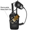 Wouxun KG-UV2D and KG-UV3D Belt Carry Holder Case by Turtleback, Black Nylon Duty Belt Holster with Heavy Duty Rotating Belt Clip