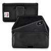 iPhone 11 Pro (2019), XS (2018) & X (2017) Belt Holster Case Black Leather Pouch Executive Belt Clip Horizontal