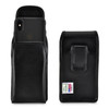iPhone 11 Pro (2019), XS (2018) & X (2017) Belt Case Vertical Holster Black Leather Pouch Executive Belt Clip