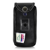 Consumer Cellular Alcatel GO FLIP, ATT Flip2, T-Mobile 4044W, MYFLIP (A405DL) Black LEATHER Fitted Case Removable Belt Clip