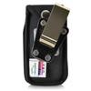 Consumer Cellular Alcatel GO FLIP, Go Flip V, ATT Flip2, T-Mobile 4044W, MYFLIP (A405DL) Black NYLON Fitted Case Metal Removable Belt Clip