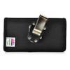 iPhone X Belt Clip Case fits OTTERBOX DEFENDER Case Black Nylon Holster Rotating Belt Clip, Horizontal