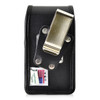 Consumer Cellular Alcatel GO FLIP, ATT Flip2, T-Mobile 4044W, MYFLIP (A405DL) Black LEATHER Magnet Closure Rotating Belt Clip
