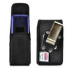 Consumer Cellular Alcatel GO FLIP, ATT Flip2, T-Mobile 4044W, MYFLIP (A405DL) Black NYLON Magnet Closure Rotating Belt Clip