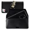 Galaxy S9 Plus Belt Case for Otterbox PURSUIT Case Rotating Belt Clip Black Leather Pouch