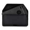 iPhone XS MAX (2018) Belt Clip Horizontal Holster Case Black Nylon Pouch Heavy Duty Rotating Clip
