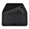 iPhone XR (2018) Belt Clip Horizontal Holster Case Black Nylon Pouch Heavy Duty Rotating Clip