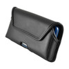 iPhone XS (2018) Fits with OTTERBOX STATEMENT Black Leather Belt Case Pouch Executive Belt Clip Horizontal